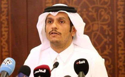 Qatar's Foreign Minister Sheikh Mohammed bin Abdulrahman al- Thani attends a news conference in Doha, Qatar, May 25, 2017.