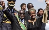 Zimbabwean President Robert Mugabe and First Lady Grace Mugabe.