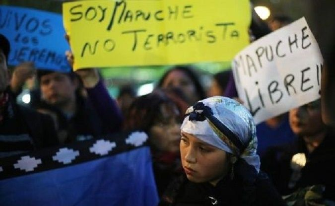 "The Mapuche activists were held under an ""anti-terrorism"" bill passed during the dictatorship of Augusto Pinochet."