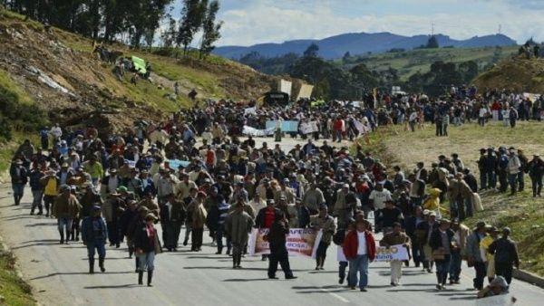 """""""Llenaremos las calles exigiendo nuestro derecho a la paz"""", aseguró un portavoz de Marcha Patriótica."""