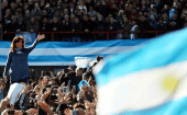Former Argentine President Cristina Fernandez de Kirchner waves during a rally in Buenos Aires, Argentina June 20, 2017.