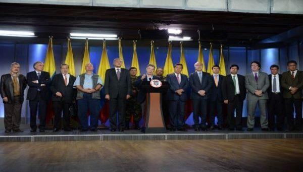President Santos led the National Security Council during an announcement.