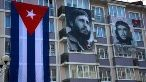 Cuban Revolutionaries Fidel Castro and Che Guevara are honored at this year's World Festival of Youth and Students in Sochi, Russia.