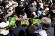 Mourners attend the funeral of the one of the victims of this weeks attacks, Kabul, Afghanistan, October 18, 2017