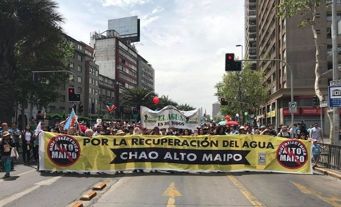 """Alto Maipo hydroelectric is polluting and diverting water courses for more than 70 km,"" the call to action on the group's Facebook page read."