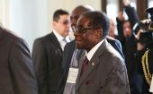 93-year old Zimbabwean President Robert Mugabe attends the WHO Global Conference on Non-Communicable Diseases in Uruguay.