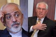 Iranian Foreign Minister Mohammad Javad Zarif (L) derided Rex Tillerson's (R) commands as being dictated by Iran's oil-rich arch-rival Saudi Arabia.