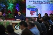 Venezuela's President Nicolas Maduro speaks during a meeting with governors and members of the government in Caracas