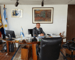 Luis Alfredo Juez in his office in Ecuador.