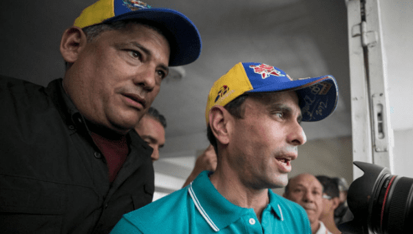 First Justice politician Henrique Capriles Radonski said he would no longer participate in the MUD opposition coalition Tuesday, blaming Democratic Action leader Ramos Allup for his decision to leave.