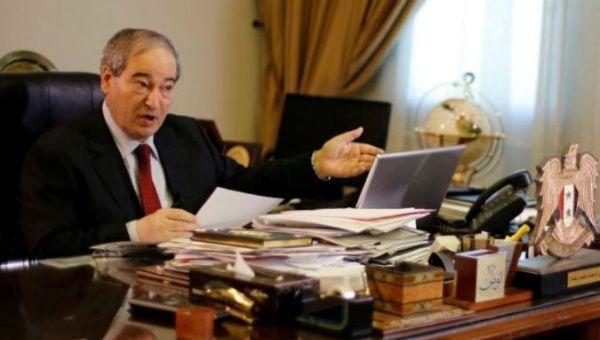 Syrian Deputy Foreign Minister Faisal Meqdad