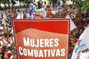 The protesters reject the policy promoted by the Venezuelan right, who