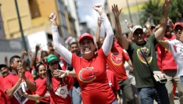 Supporters of the National Constituent Assembly in Caracas.