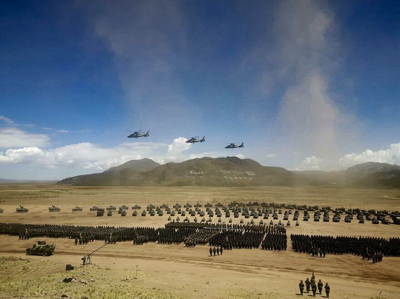 The armed forces of Bolivia gather at Patacamaya, performing demonstrations and exercises.