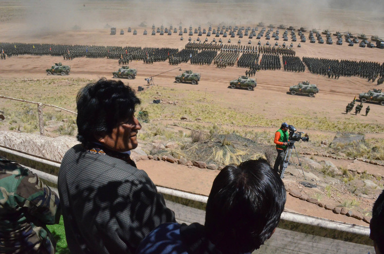 "Evo Morales described the military as ""heirs to the indigenous resistance movement against European invasion."""