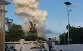 The attack occurred in the Somali capital of Mogadishu, killing dozens of people, mostly civilians.