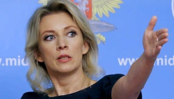 Ministry of Foreign Affairs of Russia official Maria Zajarova.