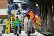Artists Paint Bolivian Cemetery Ahead of All Saints' Day