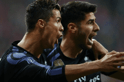 Cristiano Ronaldo and Marco Asensio in the match against Bayern Munich (Munich, Germany), on April 12, 2017