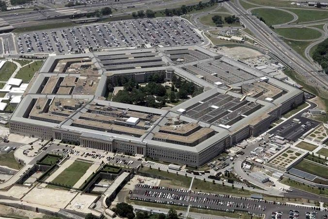 An aerial picture of the U.S. Department of Defense (the Pentagon).