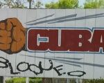 A mural in Cuba against the U.S. blockade.