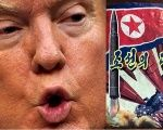 Donald Trump (L) and an anti-Trump leaflet believed to come from North Korea by balloon is pictured in this undated handout photo released by NK News on Oct. 16, 2017.