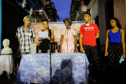 Members of the local electoral commission speak during the nominations of candidates for municipal assemblies in a neighborhood of Havana, Cuba, September 4, 2017.