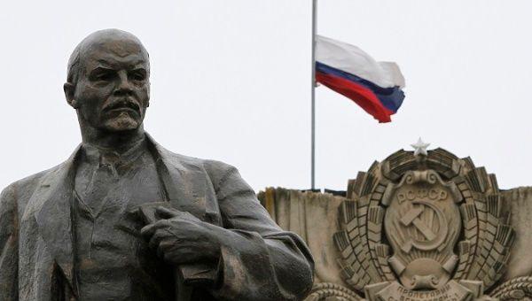 Une statue du fondateur de l'Etat soviétique Vladimir Lénine.