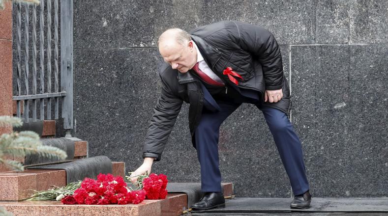 Líderes del Partido Comunista también participaron en el homenaje al centenario de la Revolución de Octubre en Moscú.