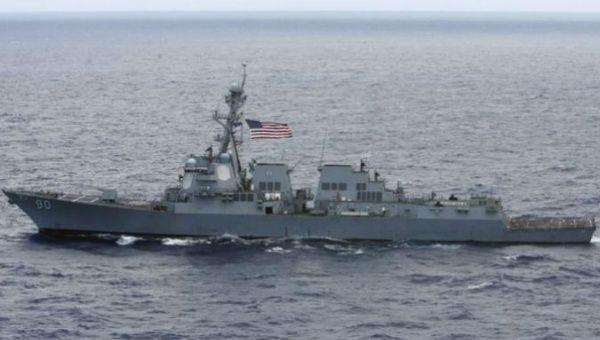 El destructor USS Chafee de la Marina de los EE. UU.