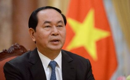 Chairman of the 25th APEC Economic Leaders Meeting, Vietnamese President Tran Dai Quang