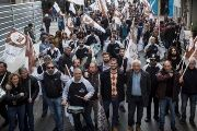 Leaders of the Justice Workers' Union announced a march against harsh labor reforms in Argentina.