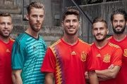 The official team uniform that Spain will use in the upcoming World Cup.