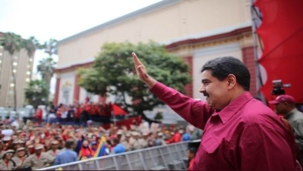"""""""This is a Christian socialism, which vindicates a people that want peace, happiness and justice,"""" said the Venezuelan President."""