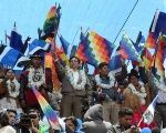 March in Bolivia to Support Evo Morales Reelection