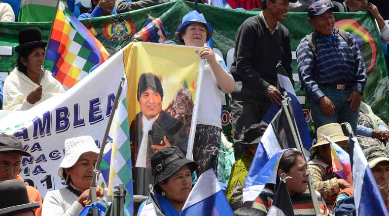 The supporters said Morales has guaranteed infrastructure works, social programs and economic stability in the country