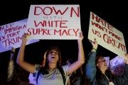 Florida too continued to witness protests on the fourth day as protesters refused to back down, carrying placards reading 'Down with White Supremacy' and 'Deport Trump'