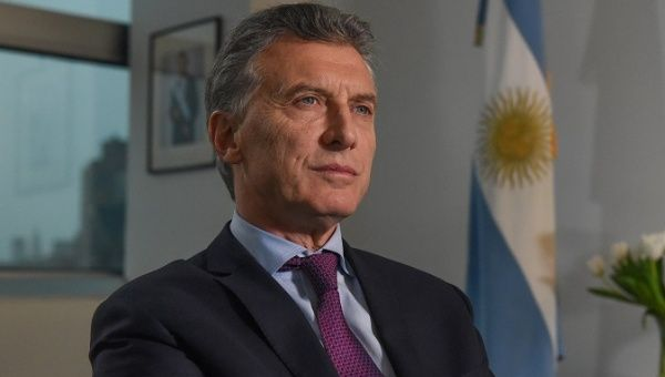 Argentine President Mauricio Macri speaks during an interview with Reuters in New York, NY, U.S. November 7, 2017.