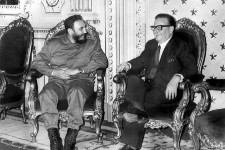 The two men were close friends: Castro even gifted the Chilean leader an AK-47 inscribed with his name.