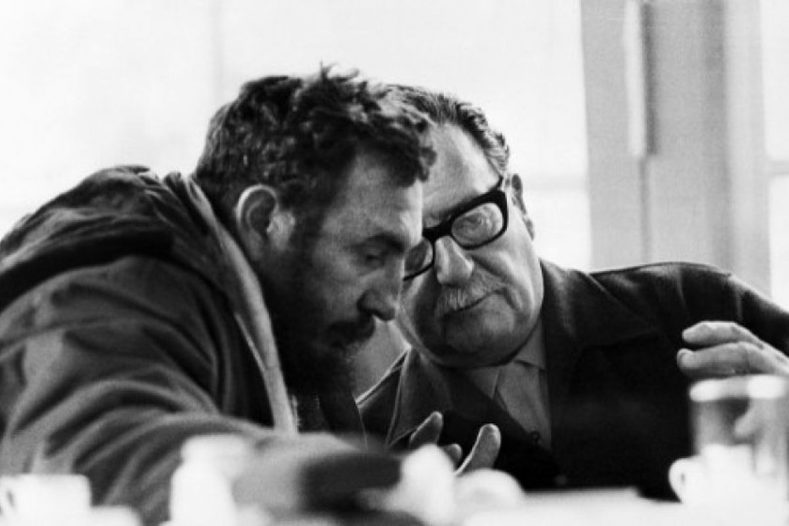 Castro and Allende had much to discuss during the tour.