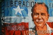 A mural dedicated to independence fighter López Rivera in Puerto Rico.