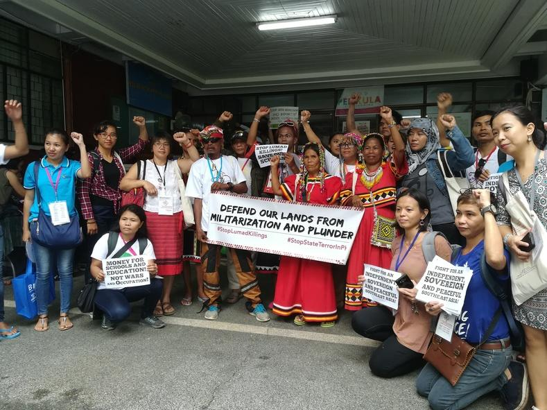 Protesters demand an end to attacks on Indigenous Peoples (IPs) across the Philippines.