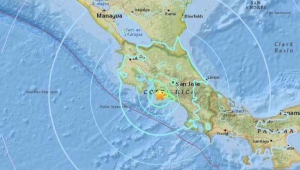 The quake was centered 69 kilometers southwest of San Jose.