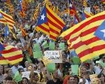 Catalans in the streets demand independence from Spain.