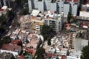 The earthquake in Mexico left hundreds of buildings destroyed.