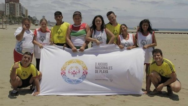 Athletes with disabilities from across Ecuador participated in the games.