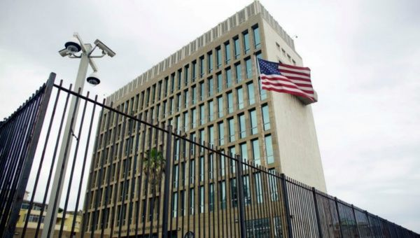 An exterior view of the U.S. Embassy is seen in Havana, Cuba, June 19, 2017. (FILE)