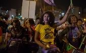 Women protest against racism in Sao Paulo, Brazil.