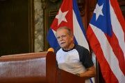 Recently released Puerto Rican freedom fighter Lopez Rivera receiving the Order of Solidarity in Cuba.
