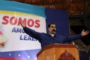 President Nicolas Maduro speaks during an event with supporters in La Guaira, Venezuela.
